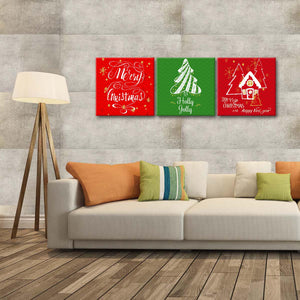 Merry Christmas Multi Panel Canvas Wall Art - Xms