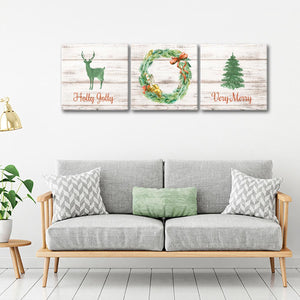 Holly Jolly Multi Panel Canvas Wall Art - Xms