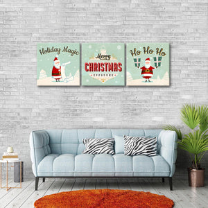 Holiday Magic Multi Panel Canvas Wall Art - Xms