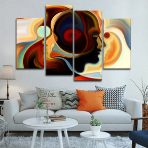 Colorful Mind Multi Panel Canvas Wall Art - Color