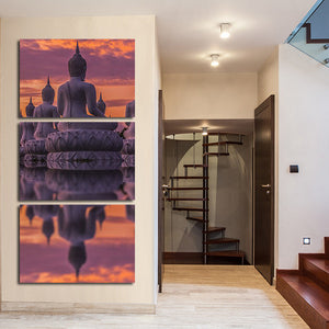 Spiritual Buddha Multi Panel Canvas Wall Art - Buddhism