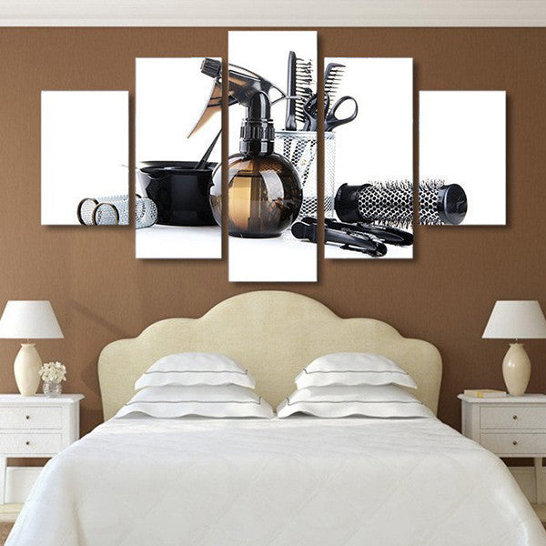 Multi Frame Wall Art hair salon multi panel canvas wall art – elephantstock