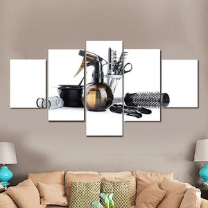 Hair Salon Multi Panel Canvas Wall Art - Hair