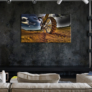 Dirt Bike Multi Panel Canvas Wall Art - Motocross