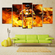 The Fire Multi Panel Canvas Wall Art