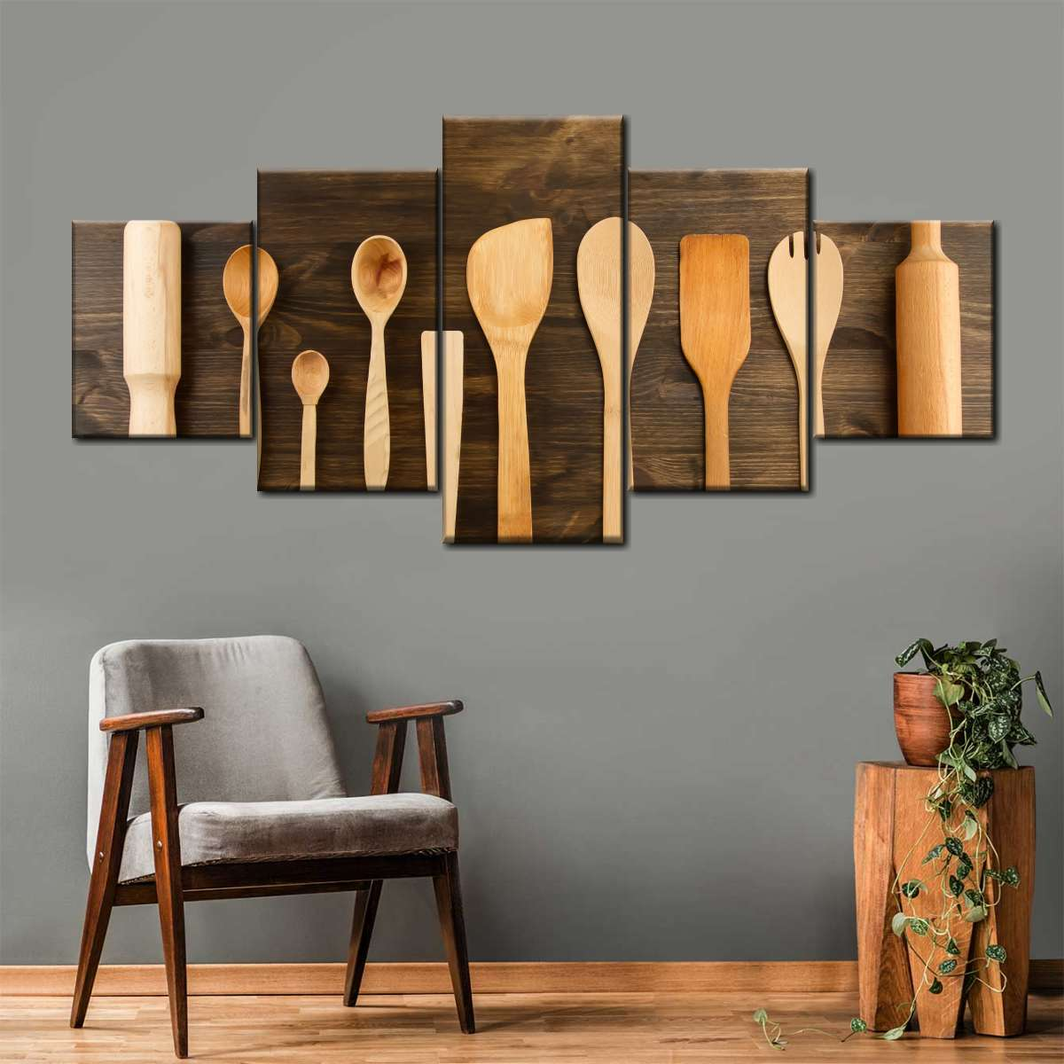 Kitchen Utensils Multi Panel Canvas Wall Art Elephantstock
