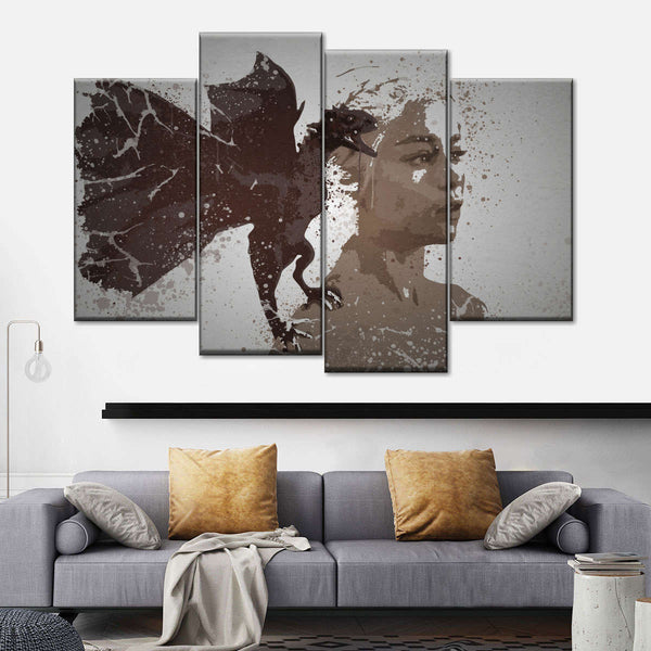 Mother Of Dragons Multi Panel Canvas Wall Art
