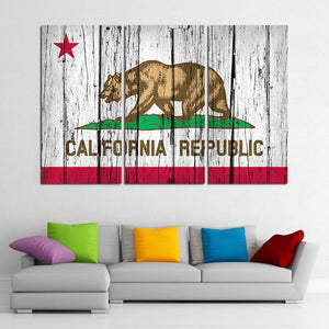 California Flag Multi Panel Canvas Wall Art