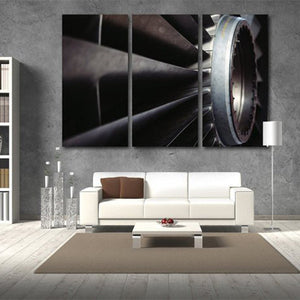Airplane Engine Multi Panel Canvas Wall Art