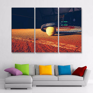 Tennis Multi Panel Canvas Wall Art - Tennis