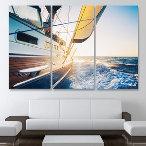 Sail Away With Me Multi Panel Canvas Wall Art - Boat