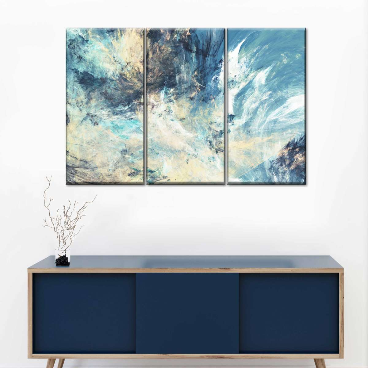 Abstract Clouds Multi Panel Canvas Wall Art