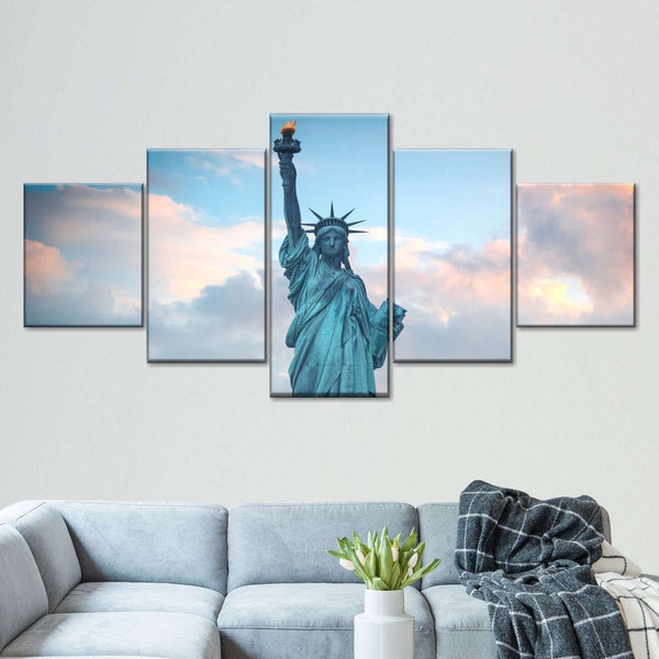 Liberty Statue Multi Panel Canvas Wall Art