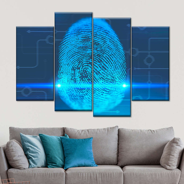 Finger Print Interface Multi Panel Canvas Wall Art