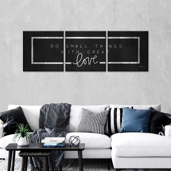 Do Small Things Multi Panel Canvas Wall Art
