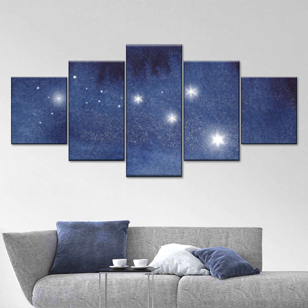 Bright Stars Multi Panel Canvas Wall Art