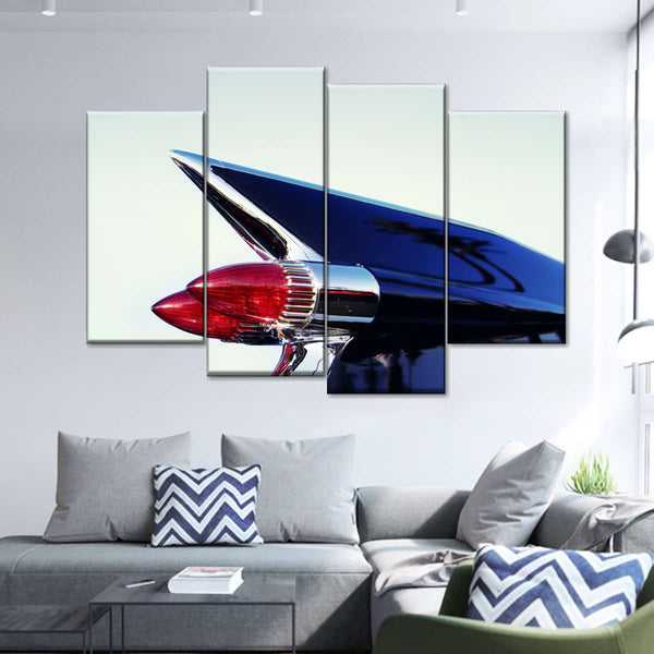 Chrome Tail Light Multi Panel Canvas Wall Art