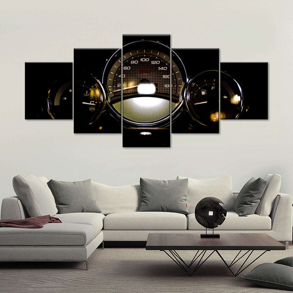 Car Speedometer Multi Panel Canvas Wall Art