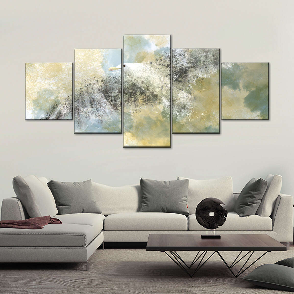 Vanishing Seagull Multi Panel Canvas Wall Art