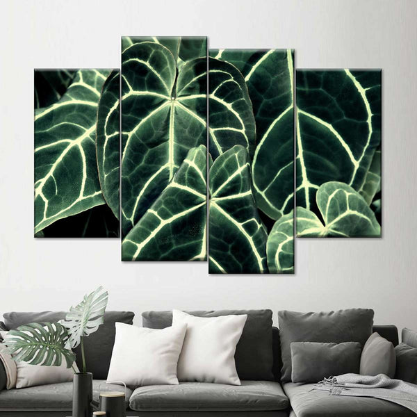 Bright Leaves Multi Panel Canvas Wall Art