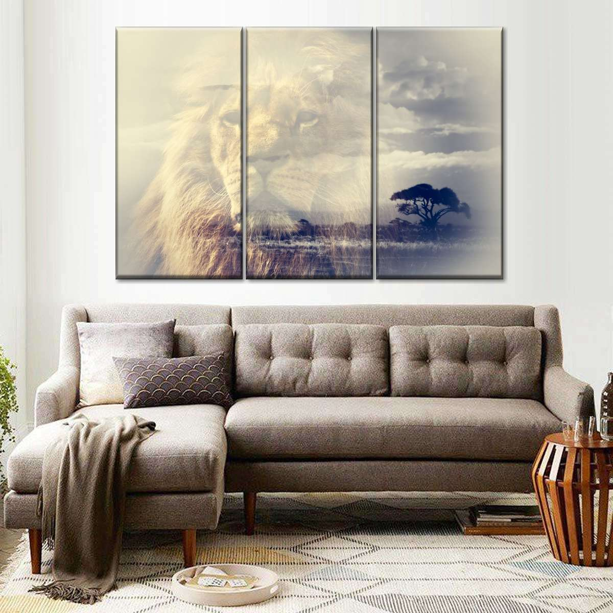 Lion Kingdom Multi Panel Canvas Wall Art