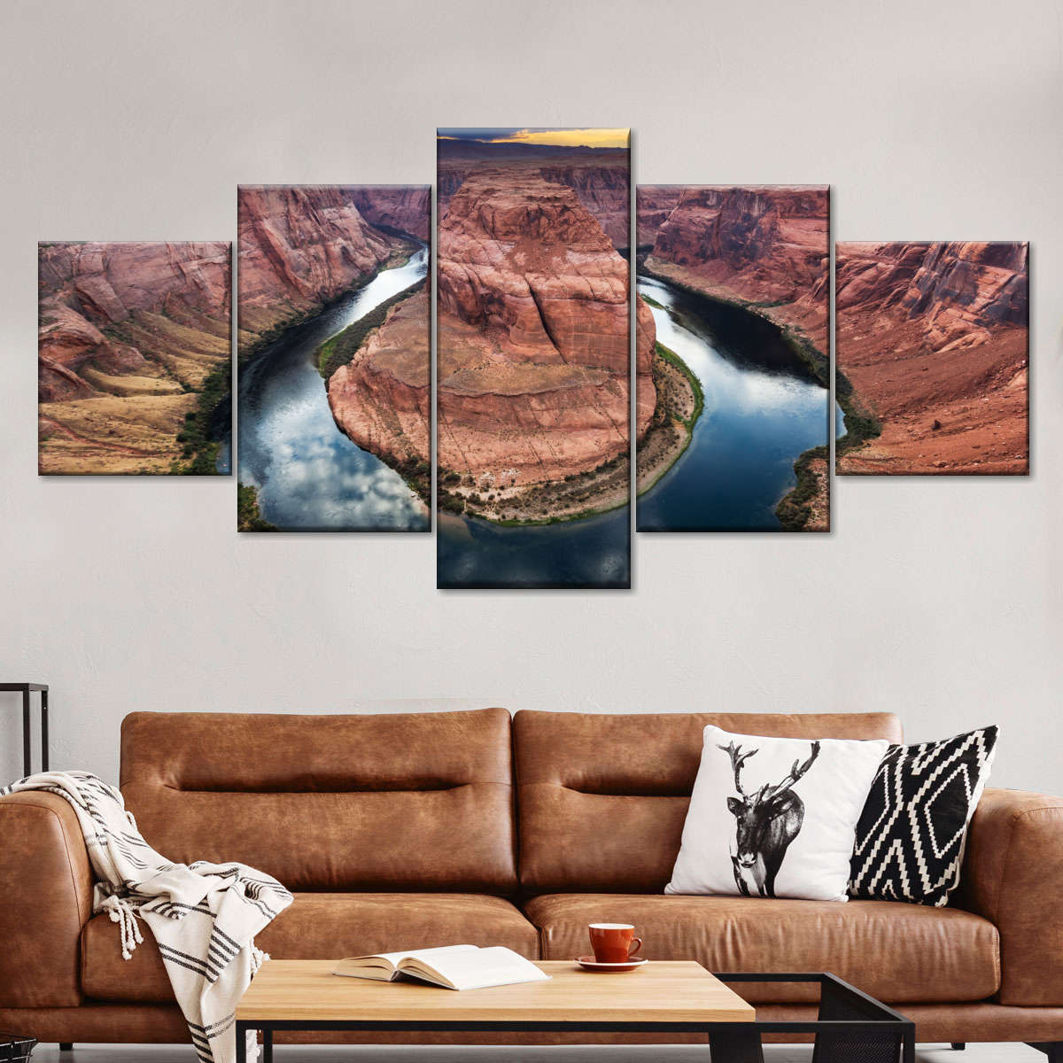 Horseshoe Bend Multi Panel Canvas Wall Art