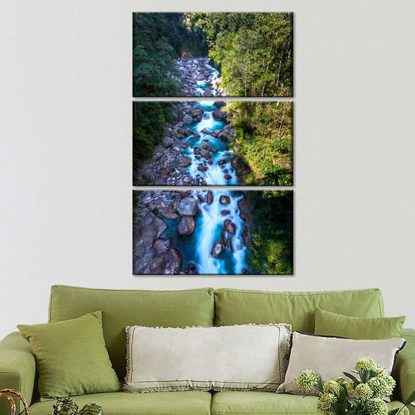 MAJESTIC BRIDGE IN THE FOREST CANVAS WALL ART PRINT PICTURE READY TO HANG