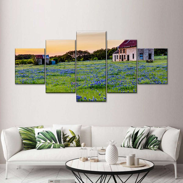 Lavender Farm Multi Panel Canvas Wall Art