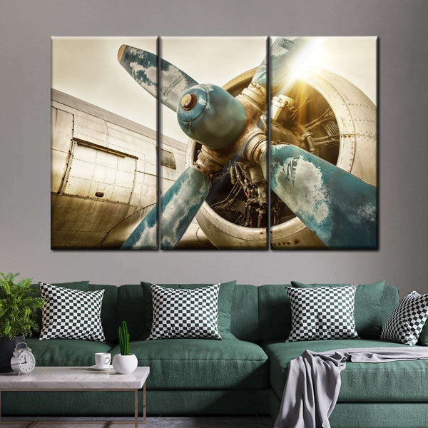 Poster Airplane Take Off Different Engine Retro Aircraft Art Wall Cloth Print 17
