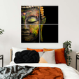 Tides Of Tranquility Buddha Multi Panel Canvas Wall Art