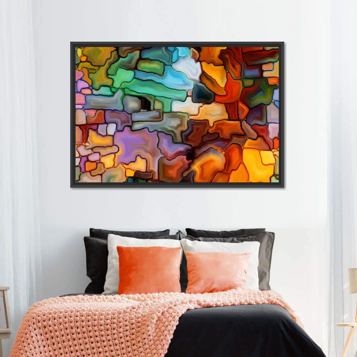 Endearing Abstract Multi Panel Canvas Wall Art