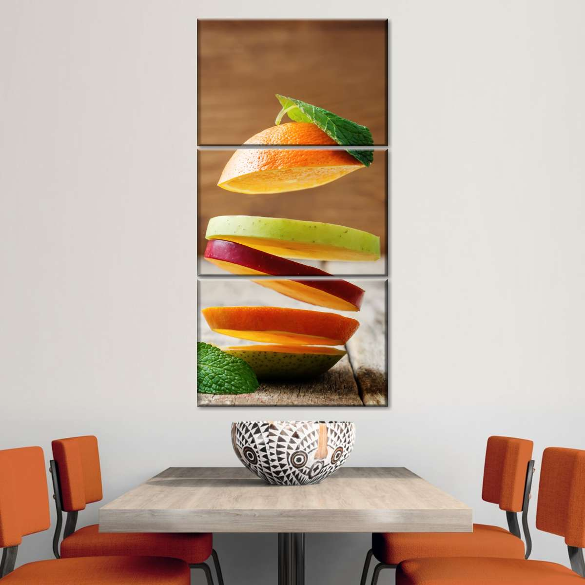 Flying Fruit Multi Panel Canvas Wall Art