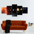 Solar System Multi Panel Canvas Wall Art