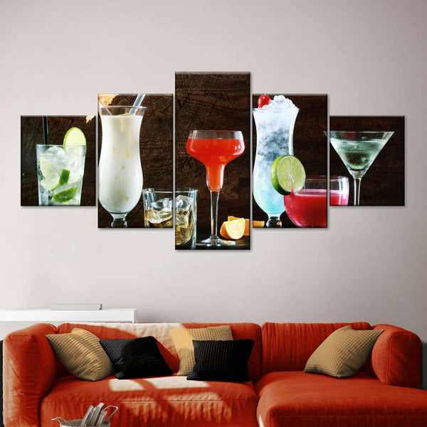 Cocktail Collection Multi Panel Canvas Wall Art