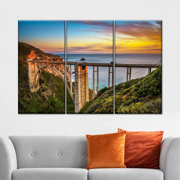 Bixby Creek Bridge Multi Panel Canvas Wall Art