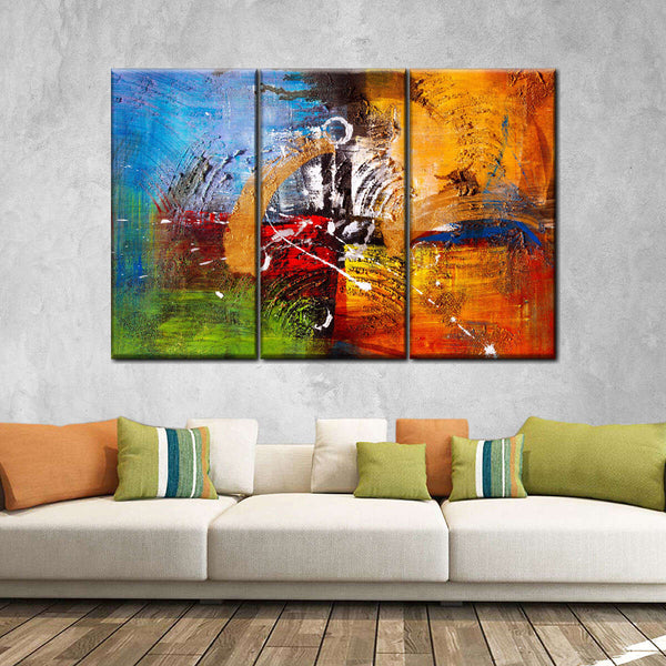 Mountain Canvas Wall Art Hanging Paintings Modern Artwork Abstract Picture Prints Home Decoration Gift Unique Designed Framed 4 Panel Back Elephant