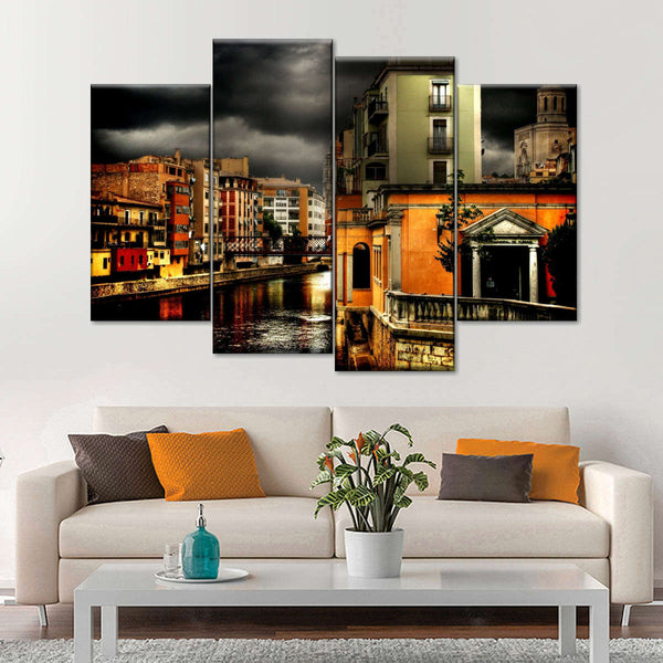 Venice Nights Multi Panel Canvas Wall Art