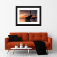 Boats At Sunset Multi Panel Canvas Wall Art