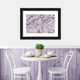 Lavander Sakura Multi Panel Canvas Wall Art