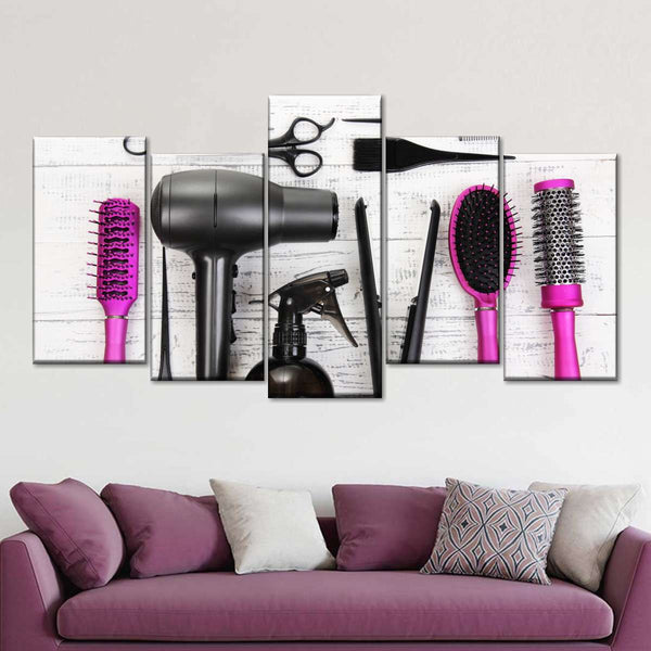 Pink Cut Multi Panel Canvas Wall Art