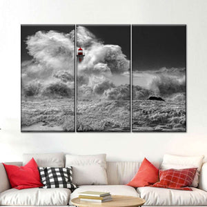 Decor Horizontal Black Red White Canvas Wall Art Prints