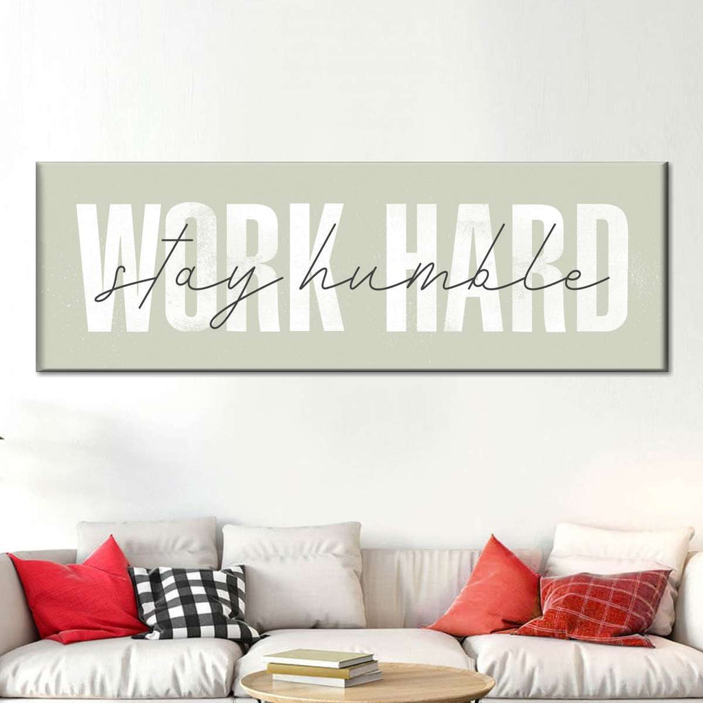 Work Hard Stay Humble Canvas Wall Art Elephantstock