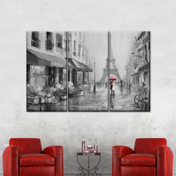 Romance In Paris Pop Multi Panel Canvas Wall Art