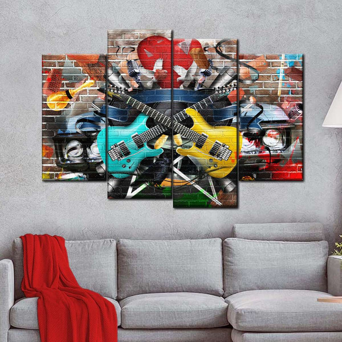 Music Festival Multi Panel Canvas Wall Art