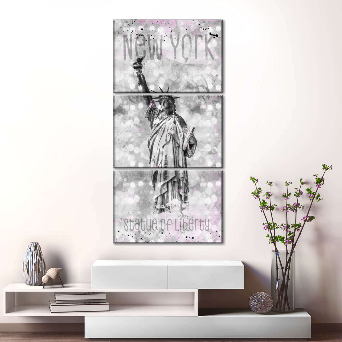 Statue Of Liberty Dream Multi Panel Canvas Wall Art