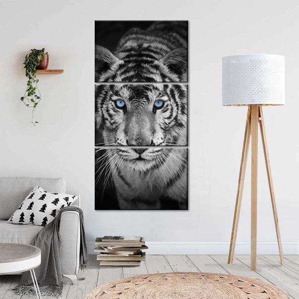 TIGER  BUTTERFLY  CANVAS WALL ART PICTURE  18 X 32 INCH FRAMED PRINT