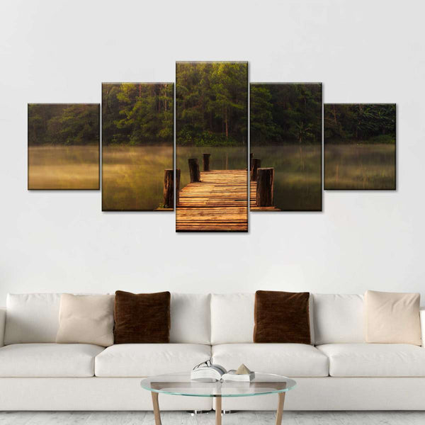 Mississippi River Multi Panel Canvas Wall Art