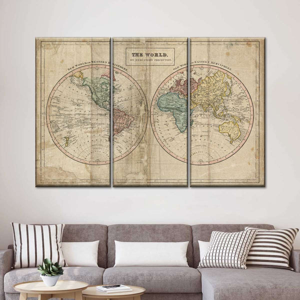 Old World Eastern Western Multi Panel Canvas Wall Art