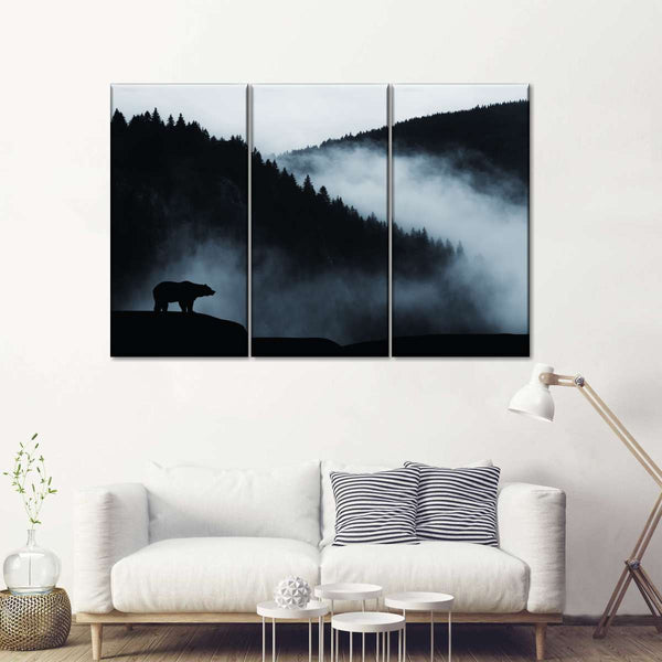 """Bear Pause Animal HD Canvas Print 24/""""x30/"""" Home Decor Paintings Wall Art Pictures"""