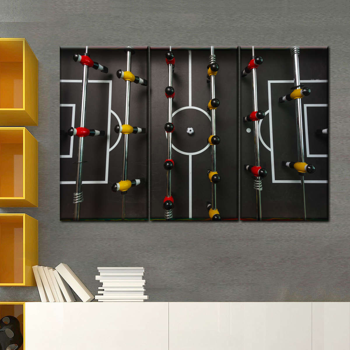 Foosball Table Multi Panel Canvas Wall Art Elephantstock